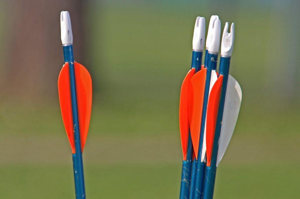 Arrow vanes help arrows bend less.